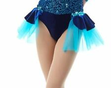 Back Skirt ONLY  Navy Turquoise Dance Dress Costume Mix N Match MIDNIGHT CXS-CL