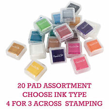20 x Papermania Small Mini Coloured Stamp Ink Pads Rubber/Acrylic/Heat Embossing