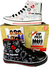 One Direction Trainers Hi Top Baseball Shoes 1D