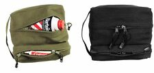 US Military Dual Two Compartment Durable Canvas Travel Kit Toiletry Shave Bag