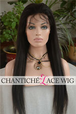 5A Light Yaki Indian Remy Human Hair Glueless Lace Front Wigs For Black Women
