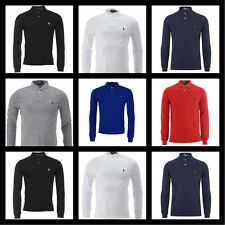 Mens Ralph Lauren Polo Shirt Long Sleeve S - M- L - XL Custom Fit FREE POSTAGE