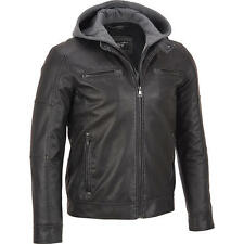 Black Rivet Mens Big & Tall Faux-Leather Cycle Jacket