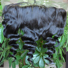 Unprocessed Virgin Loose Wave Lace Frontal Brazilian Human Hair Closure 13x4""