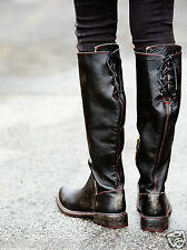 Bed Stu Free People Manchester II Tall Boots Black Handwash Vintage Destroyed