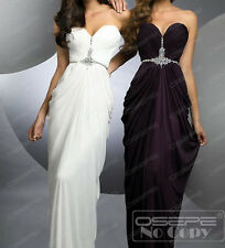Stock Sweetheart Beaded Long Ball Gowns Party Bridesmaid Prom Evening Dresses