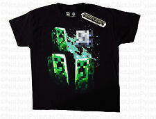 Minecraft Boys T-Shirt Black Official Jinx.