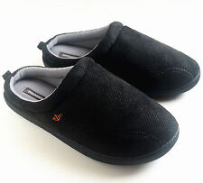 Dockers Men's Sporty Microsuede With Memory Foam Clog Slippers Black Size M XL