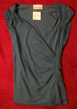 NEW Ben and Lucia Cap Sleeve Cross Front V-Neck Top $85