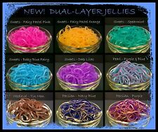 Rainbow Loom Rubber Band Refills * NEW! * DUAL-LAYER JELLY BANDS *