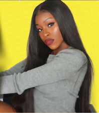 Yaki Straight Glueless Full Lace Wigs Black Women Brazilian Remy Human Hair Wigs