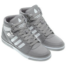 Mens Adidas Originals Hard Court Hi Sneakers, Gray White Leather, G59667