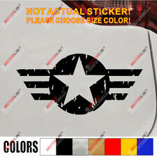USMC US Army USAF Star Vet Veteran Distressed Style Vet Car Decal Sticker