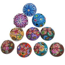 Wholesale Lots Snap Buttons Polymer Clay Mixed 19x12.5mm