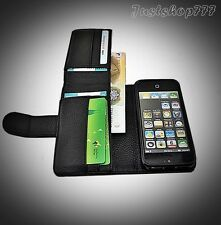 Real Genuine Grain Leather Case Wallet Stand Soft Pouch Sleeve Cover Lychee UK
