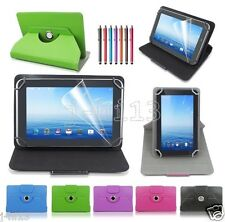 "Rotary Leather Case Cover+Gift For 7"" Clickn kids 7-inch Android Tablet GB1HW"