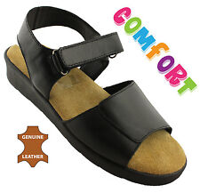 NYPD TIFFANY WOMENS/LADIES LEATHER COMFORT SHOES/SANDALS/CASUAL/FLATS ON SALE