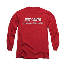 You Can Sit On My Lap Funny Dirty Christmas Humor Joke Adult L-Sleeve T-Shirt