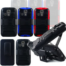 Armor Rugged Holster Hybrid Hard Case Cover Stand for Kyocera Hydro Icon Life