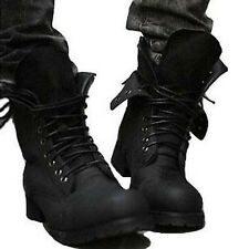 Retro England Style Men's Combat Boots Winter Ankle Boots Casual Lace up Shoes
