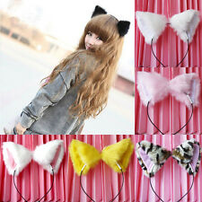 sale Girl's Cute Cat Fox Ears Long Fur Headband Anime Cosplay Party Costume et