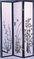 4 & 3 Panel Bambo Print Wood Shoji Room Divider Screen NEW