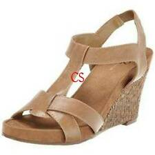 NWT $70-Womens A2 by Aerosoles Brown Strappy Wedge Sandals Shoes- 9, 9.5, 10, 11