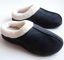 Dearfoams Mens Microsuede Soft Comfort Clog Slippers Black Size M L XL Retail$34