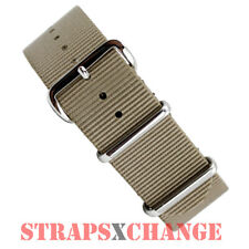 PREMIUM NATO® G10 KHAKI OLIVE BROWN Military Diver's Watch Strap Band 4 ring