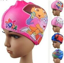 Cute Digital Printing Children's Swimming Cap Flexibility Cartoon Swimming Cap A