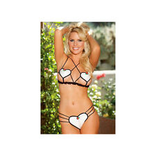 Shirley of Hollywood Strappy Heart Teddy 25229 Ivory