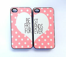 Pink polka dot Best Friends Forever phone cases for the iphone 4/4s & i5, S3&S4