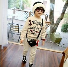 2014 New Baby Boys Clothes Sweatshirt Hoodie Jacket Pants Trousers Outfit Set