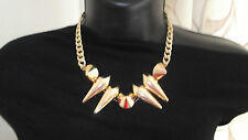 ASOS Gold Cone Spike Collar Bib Necklace