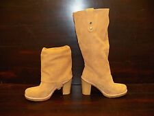 New Womens UGG Josie Chestnut Suede Convertible Tall Short High Heel Wedge Boots