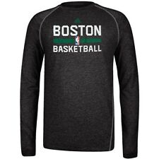Boston Celtics NBA ADIDAS Climalite Performance Long Sleeve Grey T Shirt Men's