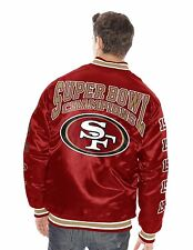 San Francisco 49ers  5 Time Champion Infield Fly Satin Quilted Jacket By G-III