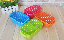 Hot sale Cute Dot Candy Color Bento Box Lunch Box Single Sub-grid Lunch Box