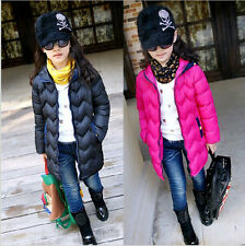 Baby Girls Down Coat Warm Frozen Winter Hooded Jacket Outerwear Padded Clothes