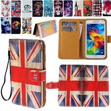 Folio Flip PU Leather Stand Card Wallet Magnetic Cover Case For Samsung Phones