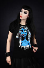 T-shirt Restyle Corpse Bride Tim Burton Noces Funèbres Dark Gothique Gothic New