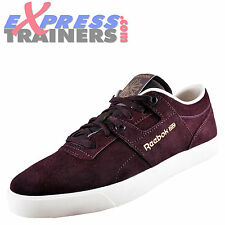 Reebok Classic Mens Workout Low Suede Leather Trainers Burgundy *AUTHENTIC*