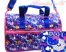 Authentic Hello Kitty Purple Foldable Shoulder Bag Gym Travel Duffle Tote Sturdy
