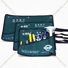 Durable 8/10/14 pocket canvas spanner wrench tool roll up storage bags organizer