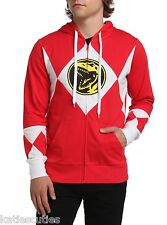 New Mighty Morphin Power Rangers Red Hoodie Costume Mens Small S Last One