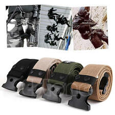 Adjustable Survival Men Army Military Tactical Belts Heavy Duty Combat Waistband
