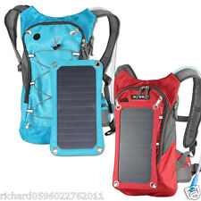 Outdoor Sports Travel Bike Solar Panel Powered Backpack Water Bag 5V USB Charger
