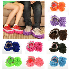 1pair Dust Mop Home Slippers Shoes Floor Cleaner Clean Room Office Kitchen