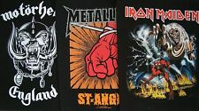 Large Back Patches Maiden Motorhead Metallica punk rock grunge biker goth emo oi