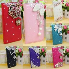 Applied 1PC Rhinestone Wallet Leather Bling Cover For Samsung Galaxy S5 i9600
